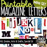 Printable Magazine Letters Alphabet A-Z: Word Work, Spelling, Literacy Centers