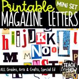 Printable Magazine Letters Alphabet A-Z: Word Work, Spelli