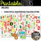 Printable Magazine Letter Cutouts, Holiday/Christmas Set: Word Work, Literacy