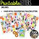 Printable Magazine Letter Cutouts, Set 1, Alphabet a-z: Word Work, Literacy