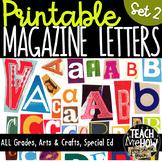 Printable Magazine Letter Cutouts, Set 2, Alphabet a-z: Wo