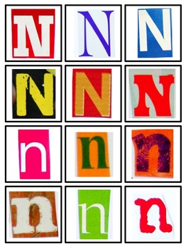 Magazine Letter Sort for Letter & Word Work, Literacy Centers, Letters N-Z