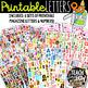 Printable Magazine Letters & Numbers BUNDLE