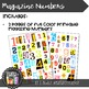 Printable Magazine Number Cutouts, 0-9 & special characters, Math Centers
