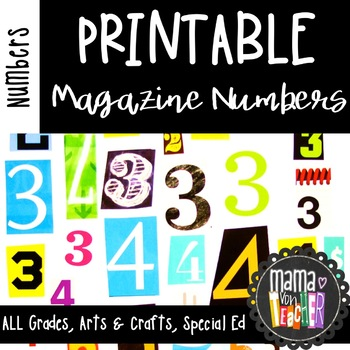 photo relating to Printable Numbers 0-9 named Printable Journal Quantity Cutouts, 0-9 distinctive figures, Math Facilities