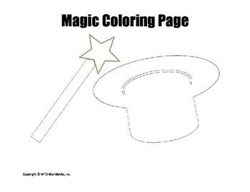 Printable Magic Coloring Page Worksheets