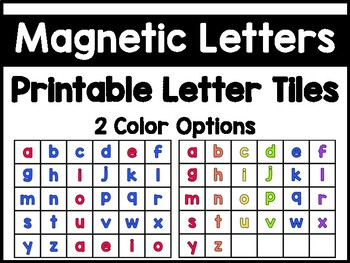 image about Letter Tiles Printable titled Printable Magnetic Letter Tiles