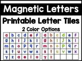 Printable Magnetic Letter Tiles