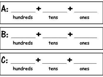 Printable Manipulatives to go with 2nd Grade Math