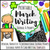 March Writing Prompts and Journal Activities