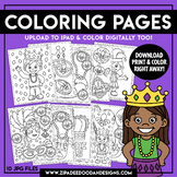 Printable Mardi Gras Coloring Pages {Zip-A-Dee-Doo-Dah Designs}