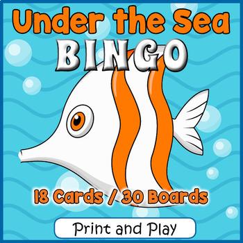 Ocean Animals BINGO - Ocean Animals Game