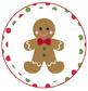 Gingerbread Cookies in a Jar Printable Label Tags