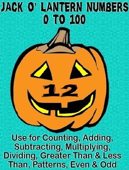 Printable Math Assorted Activities - Jack O' Lantern Numbers 0 to 100 In Color