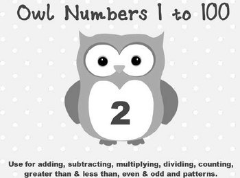 Printable Math Assorted Activities - Owl Numbers 1 to 100