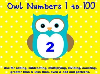 Printable Math Assorted Activities - Owl Numbers 1 to 100 In Color
