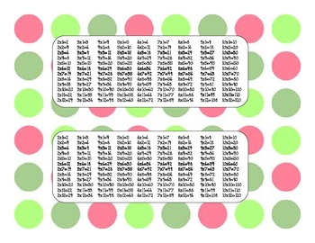 Printable Math Bookmarks