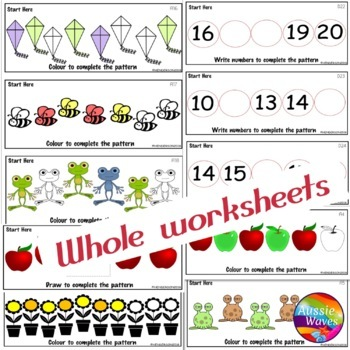 Math Activity Number Patterns Counting Numbers 0-20