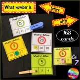 Math Center Activities What's BEFORE and AFTER Counting Numbers 0-20