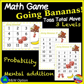 Printable Math Center Game PROBABILITY Logical Thinking Me