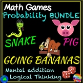 3 Printable Math Center Games  PROBABILITY ADDITION MULTIPLICATION COOL FUN