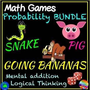 3 Printable Math Center Games  PROBABILITY ADDITION MULTIP