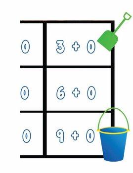 Printable Math Center Tic Tac Toe Addition Plus 0 File Folder Game