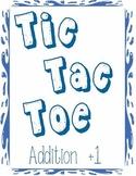 Printable Math Center Tic Tac Toe Addition Plus 1 File Folder Game