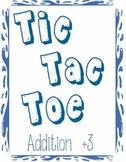 Printable Math Center Tic Tac Toe Addition Plus 3 File Folder Game