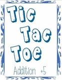 Printable Math Center Tic Tac Toe Addition Plus 5 File Folder Game
