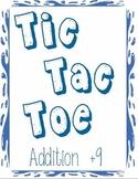 Printable Math Center Tic Tac Toe Addition Plus 9 File Folder Game