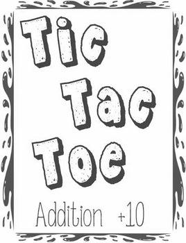 Printable Math Center Tic Tac Toe Addition Plus 10 File Fo