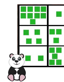 Printable Math Center Tic Tac Toe Base 10 Blocks - Hundreds File Folder Game