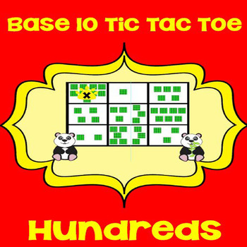 Printable Math Center Tic Tac Toe Base 10 Blocks - Hundred