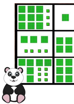 Printable Math Center Tic Tac Toe Base 10 Blocks - Hundreds & Ones Game