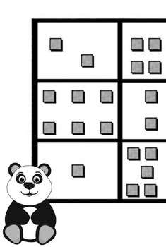 Printable Math Center Tic Tac Toe Base 10 Blocks - Ones File Folder Game Gray