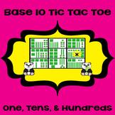 Printable Math Center Tic Tac Toe Base 10 Blocks - Ones, T