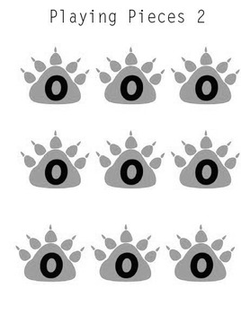 Printable Math Center Tic Tac Toe Base 10 Blocks-Ones,Tens,& Hundreds Game Gray
