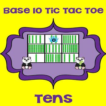 Printable Math Center Tic Tac Toe Base 10 Blocks - Tens Fi