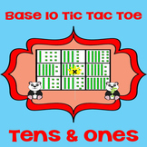 Printable Math Center Tic Tac Toe Base 10 Blocks - Tens & Ones Game