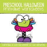 Printable Math & Literacy Halloween Preschool Worksheets