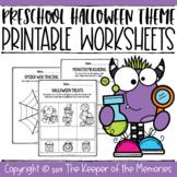 Printable Halloween Preschool Worksheets Bundle