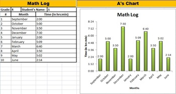Printable Math Log