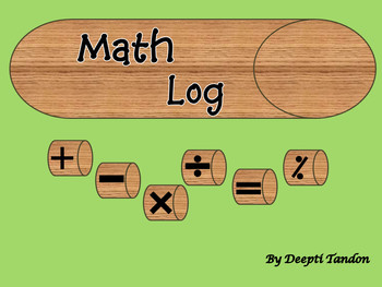 Printable Math Log