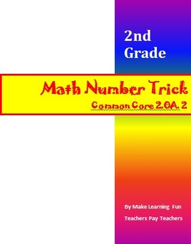 Fun Math Number Trick Common Core (CCSS 2.OA.2) Adding up