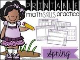 Printable Math Skills Practice  Spring Edition