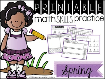 Printable Math Skills Practice  Spring Edition