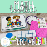 K, 1, 2 Grade Printable Math Toolkit for Distance Learning
