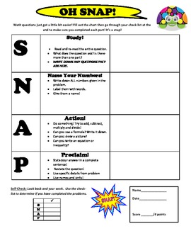 Printable Math Word Problem Template for State Tests - Easy to Use!
