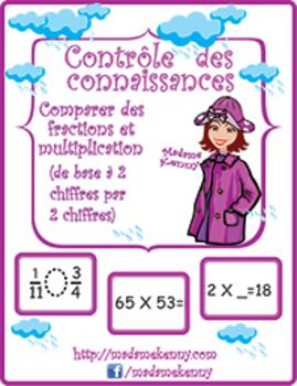 Printable Math Worksheets: Controle des connaissances